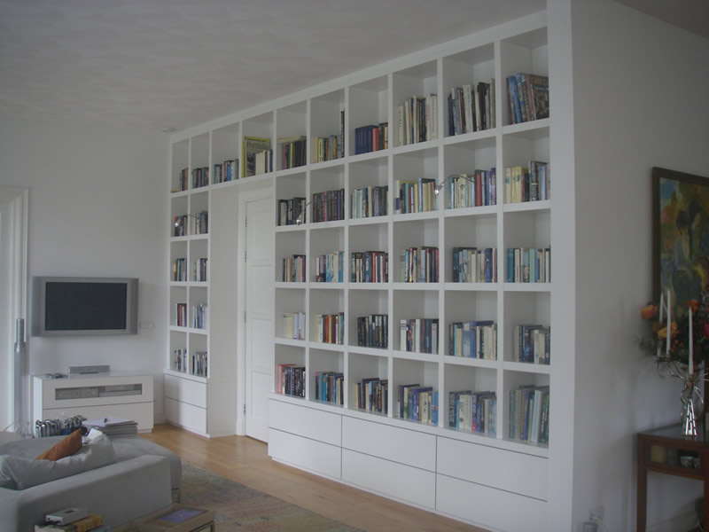Woonkamer Met Boekenkast : Boekenkast op maat inspiratie en ideeën
