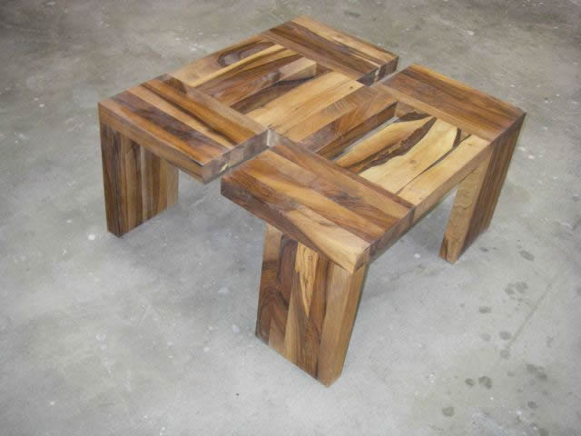 Notenhouten salontafel